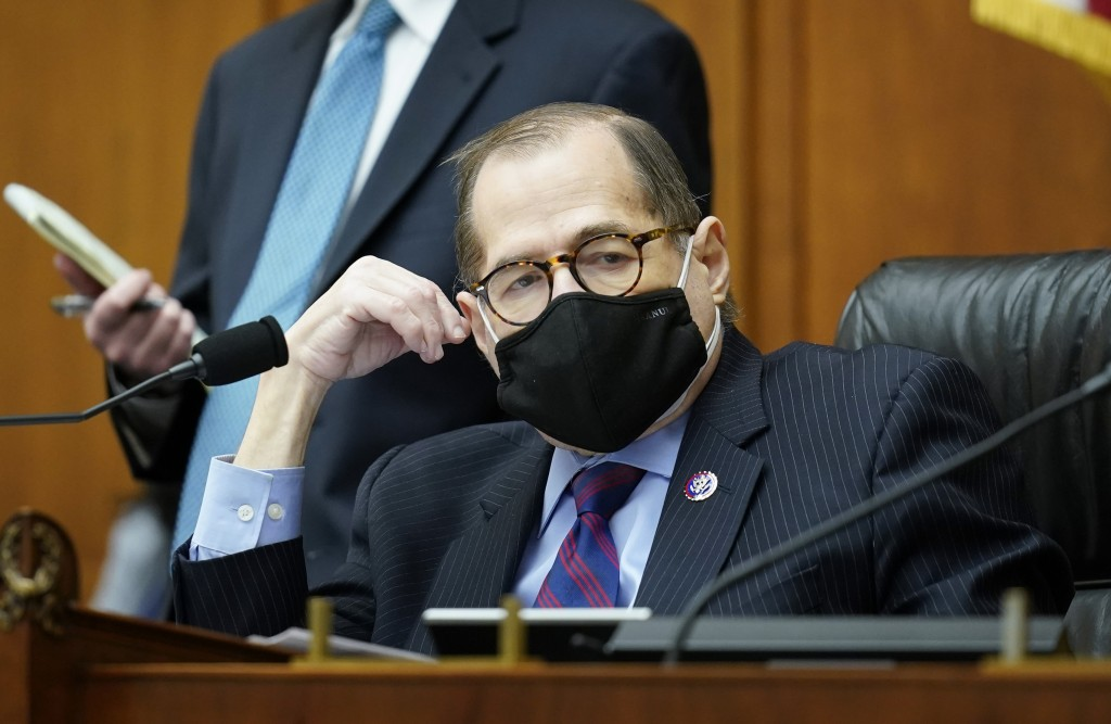 House Judiciary Committee Chairman Jerrold Nadler, D-N.Y., listens as his panel holds a markup of a bill to create a commission to study and address s...