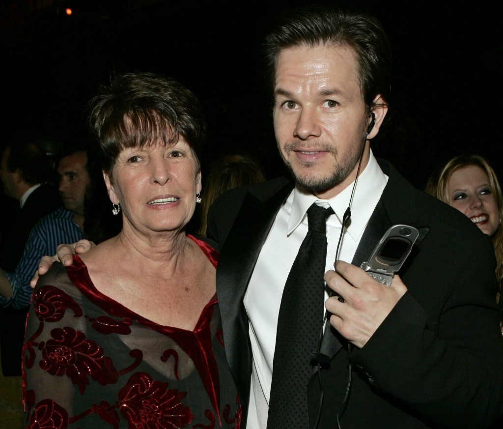 """FILE - In this Sunday, Jan. 16, 2005, file photo, Mark Wahlberg, executive producer of the HBO series """"Entourage,"""" and his mother Alma pose at the HBO..."""