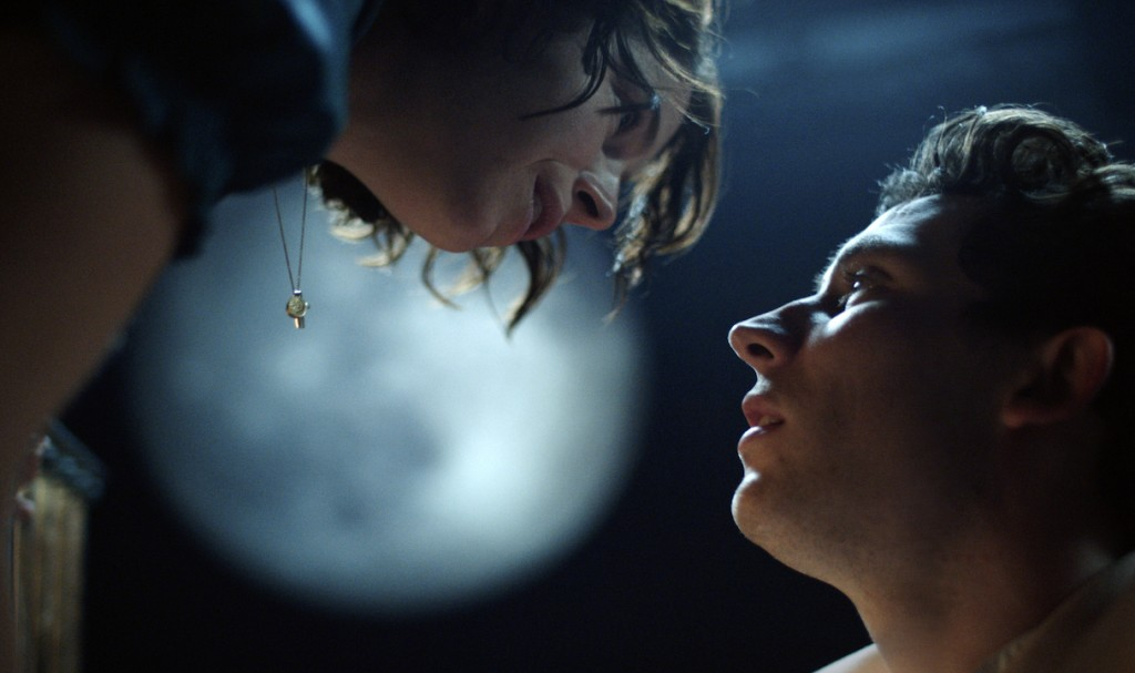 """This image released by PBS shows Jessie Buckley, left, and Josh O'Connor from Great Performances' """"Romeo & Juliet,"""" premiering  Friday, April 23. ( Na..."""