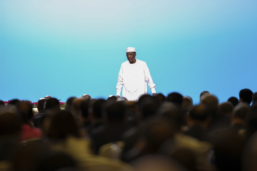FILE - In this Monday, Sept. 3, 2018 file photo, Chadian President Idriss Deby Itno attends the high-level dialogue between Chinese and African leader...