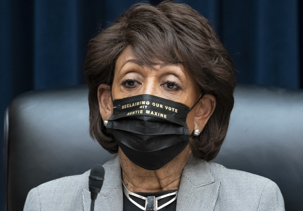 House Financial Services Committee Chairwoman Maxine Waters, D-Calif., presides over a markup of pending bills, on Capitol Hill in Washington, Tuesday...