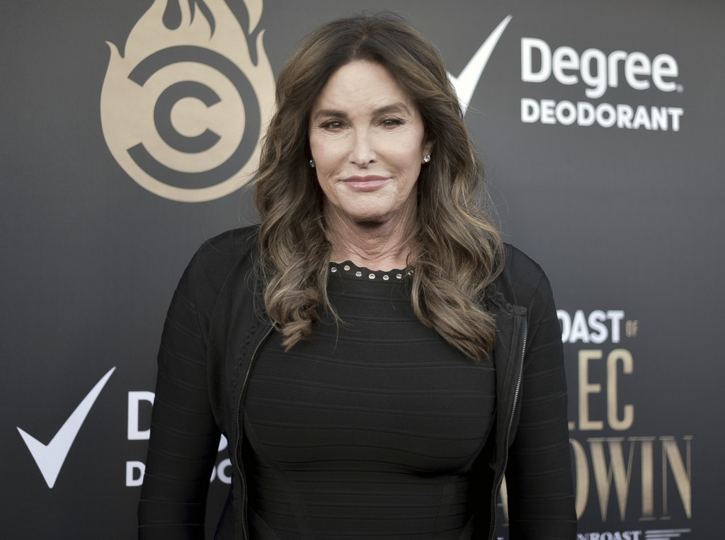 FILE - Caitlyn Jenner attends the Comedy Central Roast of Alec Baldwin in Beverly Hills, Calif. on Sept. 7, 2019.  Jenner says she will run for govern...