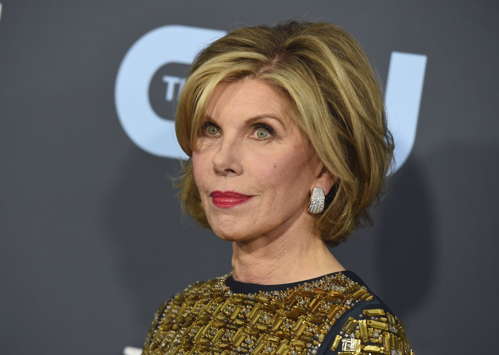 FILE - Christine Baranski arrives at the 25th annual Critics' Choice Awards in Santa Monica, Calif. on Jan. 12, 2020. The Emmy- and Tony-winning actor...