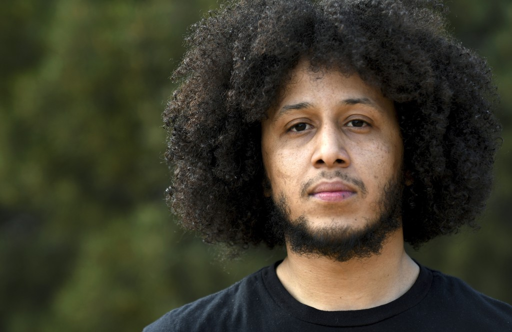 Michael Diaz-Rivera poses for a portrait in Denver on Friday, April 23, 2021. Diaz-Rivera was pulled over in Colorado Springs, Colorado in 2006, and o...