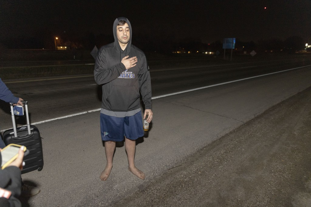 Jawad Yatim recounts seeing two people get shot at the Oneida Casino in the early morning hours of Sunday, May 2, 2021, near Green Bay, Wisconsin. Aut...
