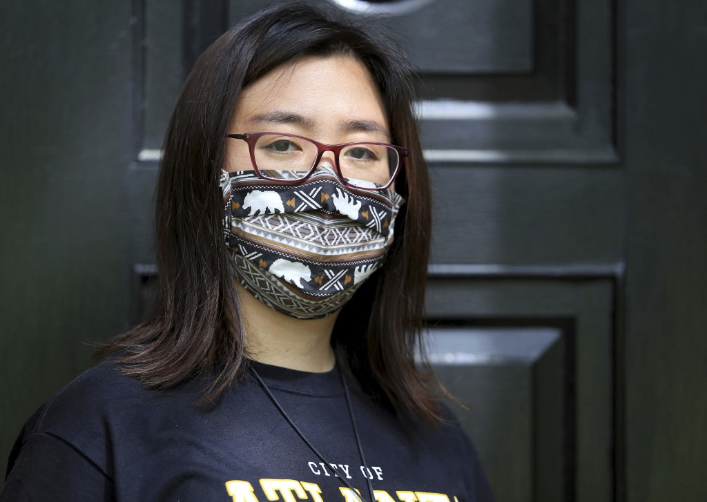 Claire Xu, poses for a photo, Friday, April 9, 2021, in Decatur, Ga., Xu was propelled into action following the mass fatal shootings of eight people,...