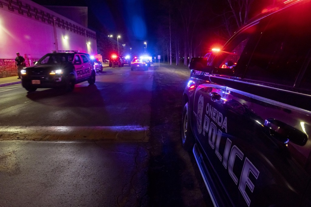 Law enforcement at the Oneida Casino near Green Bay, Wis in the early morning hours of Sunday May 2nd, 2021 after an active shooter. Authorities in Wi...