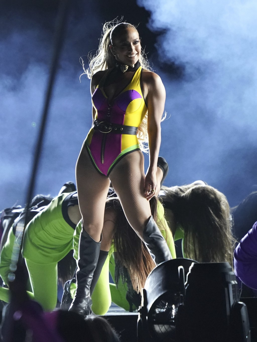 """Jennifer Lopez performs at """"Vax Live: The Concert to Reunite the World"""" on Sunday, May 2, 2021, at SoFi Stadium in Inglewood, Calif. (Photo by Jordan ..."""