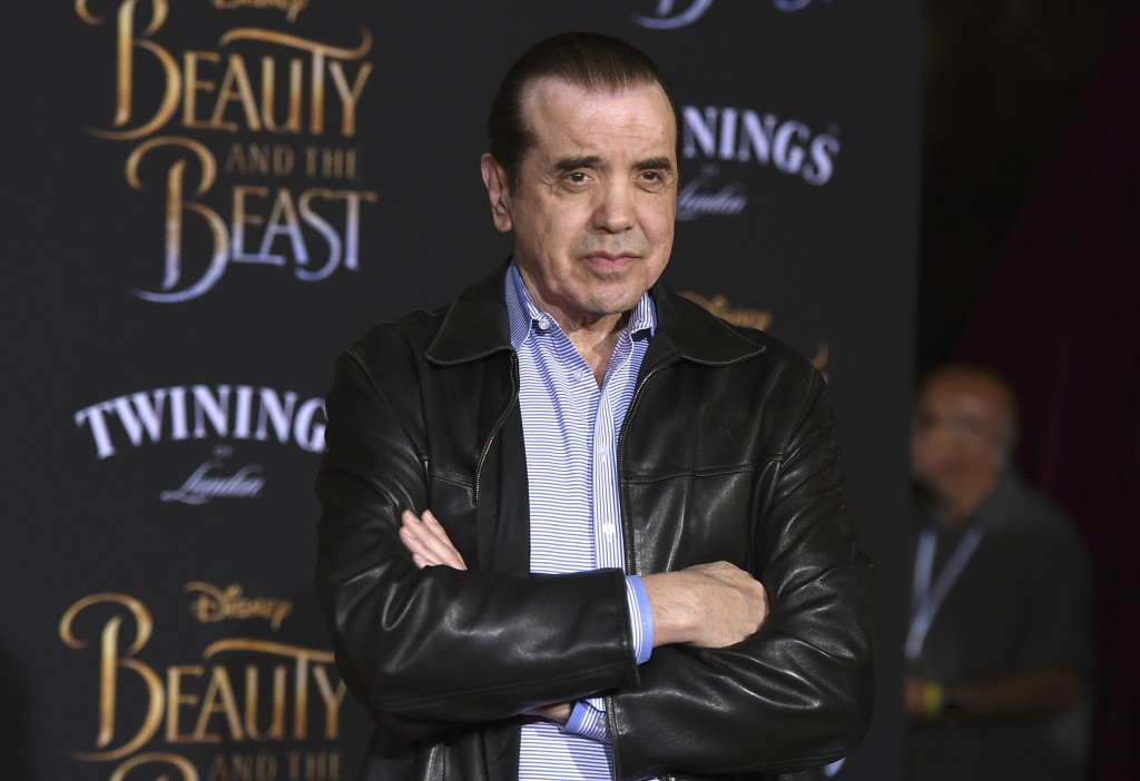 """FILE - Chazz Palminteri arrives at the world premiere of """"Beauty and the Beast"""" on March 2, 2017, in Los Angeles. Palminteri turns 75 on May 15. (Phot..."""