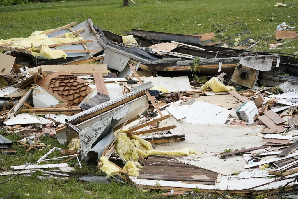 The remains of a mobile home are shown early Monday, May 3, 2021, in Yazoo County, Miss. Multiple tornadoes were reported across Mississippi on Sunday...
