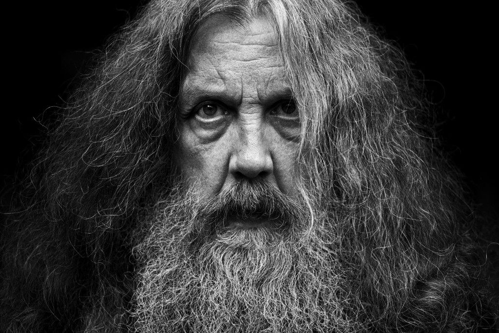"""This photo provided by Bloomsbury Publishing shows Alan Moore. The celebrated British author known for """"V for Vendetta"""" and """"Watchman"""" among other wor..."""