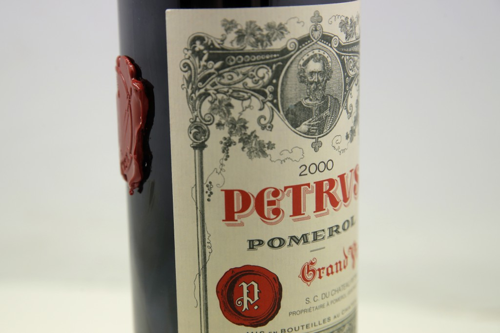 A bottle of Petrus red wine that spent a year orbiting the world in the International Space Station is pictured in Paris Monday, May 3, 2021.  The bot...