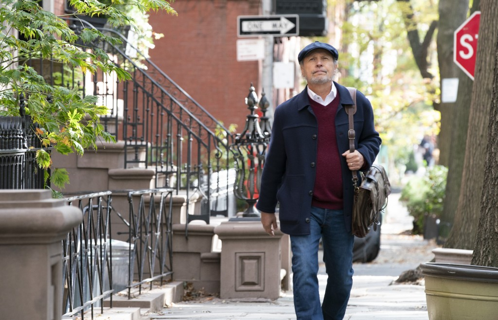 """This image released by Sony Pictures shows Billy Crystal in a scene from """"Here Today."""" (Cara Howe/Sony Pictures via AP)"""