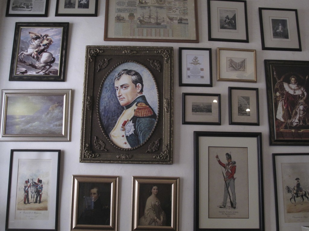 FILE — In this Oct. 15, 2017, file photo, several images of Napoleon Bonaparte are shown in this collection of framed pictures on a wall in the Consul...