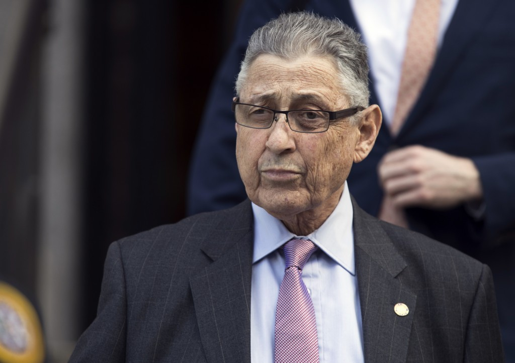 FILE - In this May 11, 2018 file photo, former New York Assembly Speaker Sheldon Silver leaves federal court in New York. Silver has been released fro...