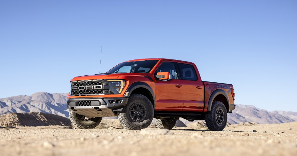 This photo provided by Ford Motor Company shows the 2021 Ford F-150 Raptor. More than just an upgraded F-150, the Raptor is a re-worked version of the...