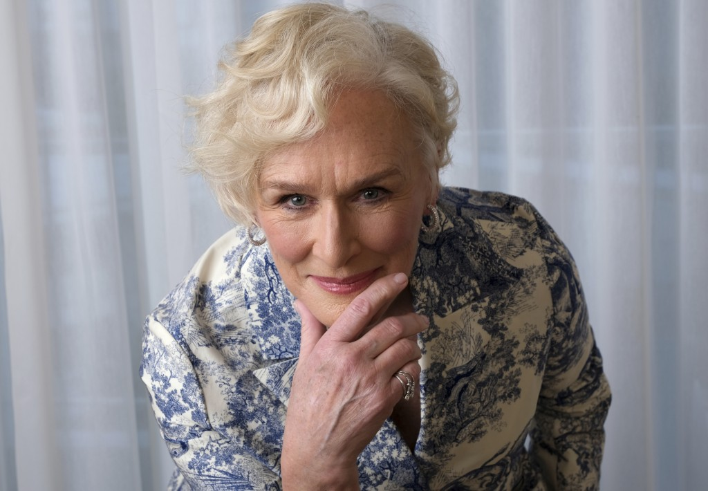 """FILE - Glenn Close, nominated for an Oscar for best actress for her role in """"The Wife,"""" poses at the 91st Academy Awards Nominees Luncheon in Beverly ..."""