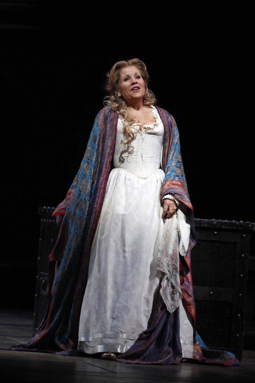 """FILE - In this Friday, Oct. 5 2012 file photo, soprano Renee Fleming performs as Desdemona during the final dress rehearsal of Guiseppe Verdi's """"Otell..."""
