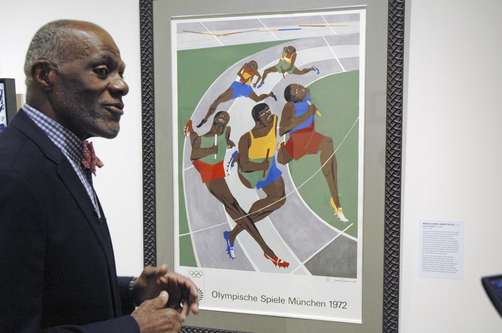 File-In this Jan. 11, 2018 file photo, Alan Page, NFL Hall of Famer and retired Minnesota Supreme Court justice, talks about a poster from the 1972 Ol...
