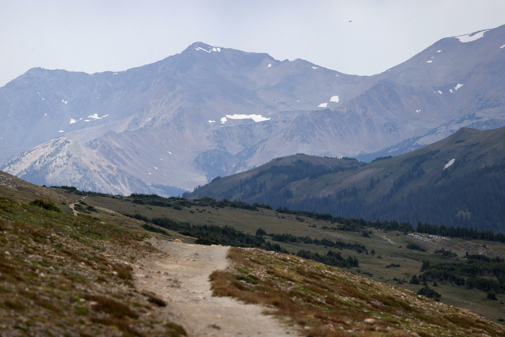 FILE - This Aug. 5, 2020, file photo shows a trail in Rocky Mountain National Park in Grand Lake, Colo. The Biden administration is outlining a plan t...