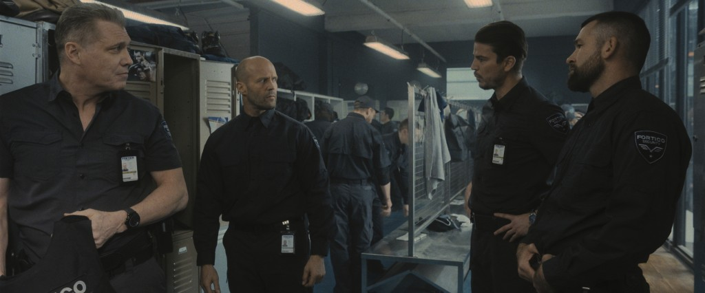 This image released by Metro Goldwyn Mayer Pictures shows, from left, Holt McCallany, Jason Statham, Josh Hartnett and Rocci Williams in a scene from ...