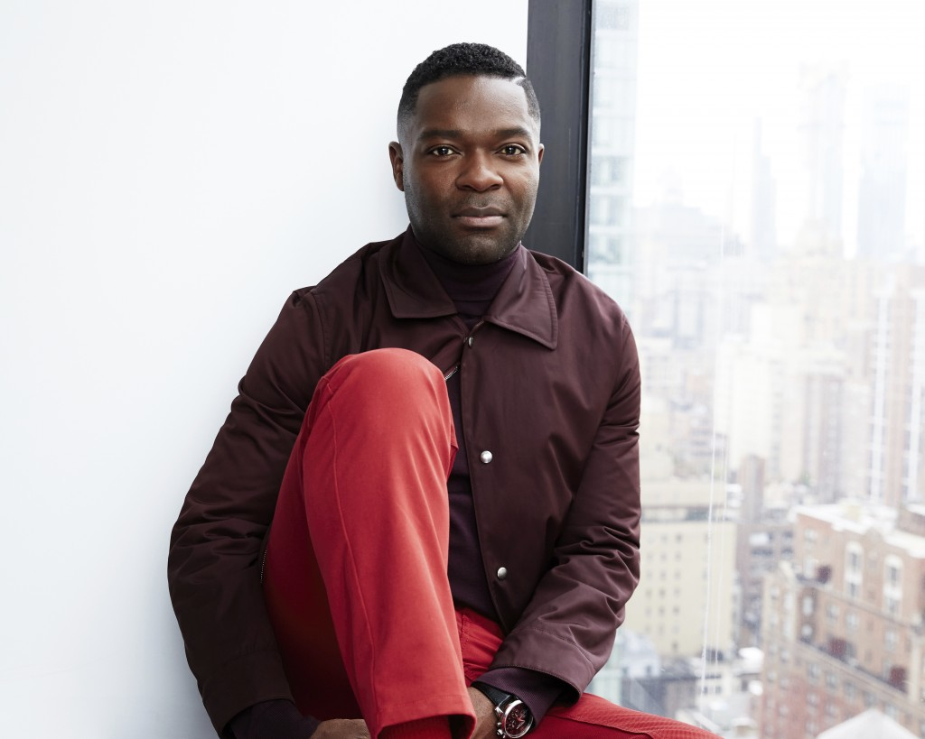 """FILE - David Oyelowo posing for a portrait in New York on April 8, 2019. Oyelowo makes his directorial debut in """"The Water Man,"""" which arrives in thea..."""