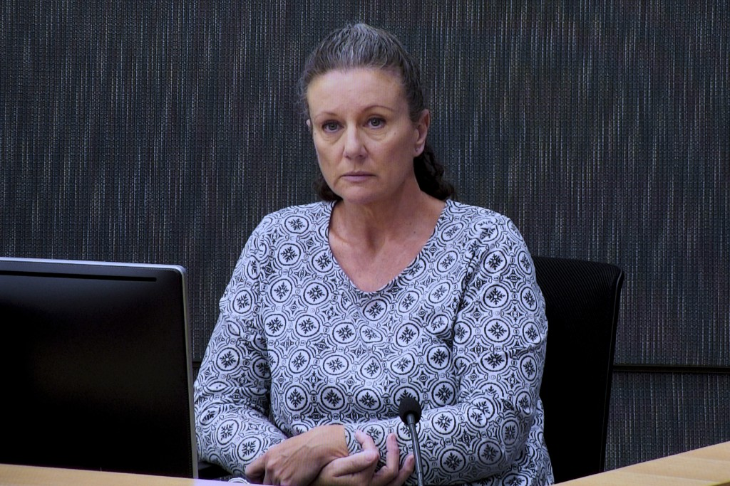 Kathleen Folbigg appears via video link during a convictions inquiry at the NSW Coroners Court in Sydney, Australia on May 1, 2019. Nearly two decades...