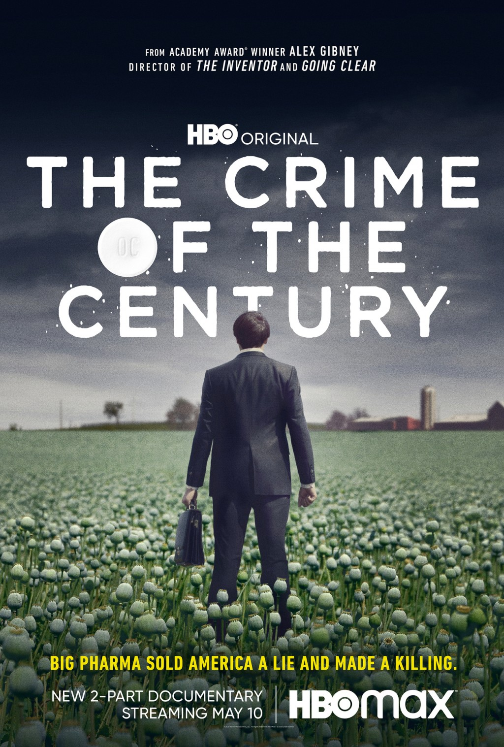 """This image released by HBO shows promotional art for """"The Crime of the Century,"""" a two-part documentary premiering May 10 on HBO. (HBO via AP)"""
