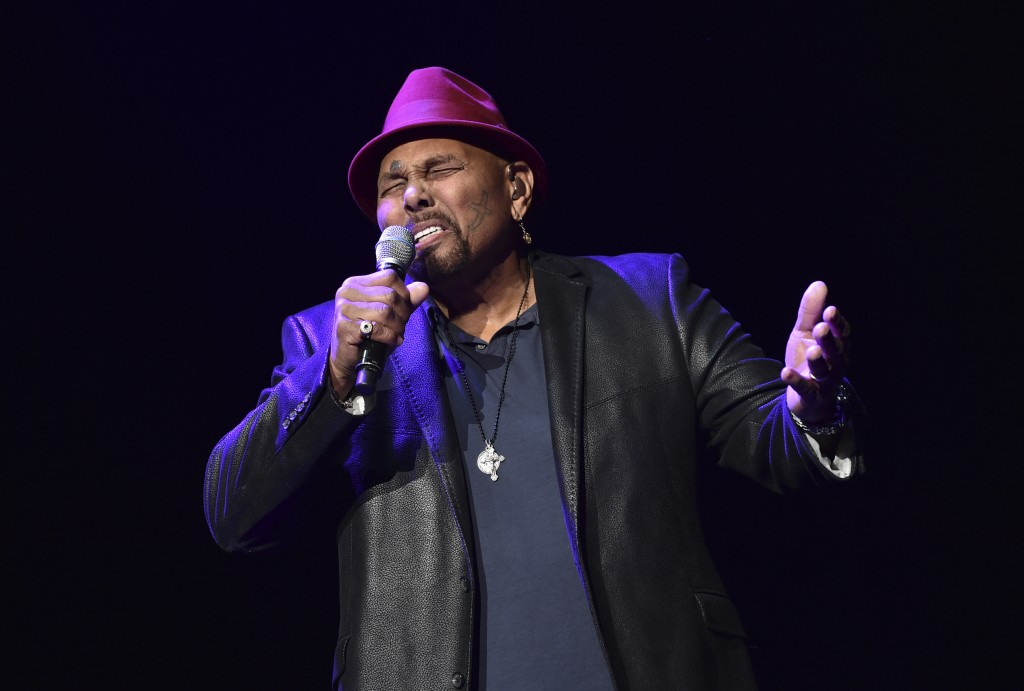 FILE - In this Saturday, Jan. 6, 2018 file photo, Singer Aaron Neville performs during A Concert For Island Relief at Radio City Music Hall in New Yor...