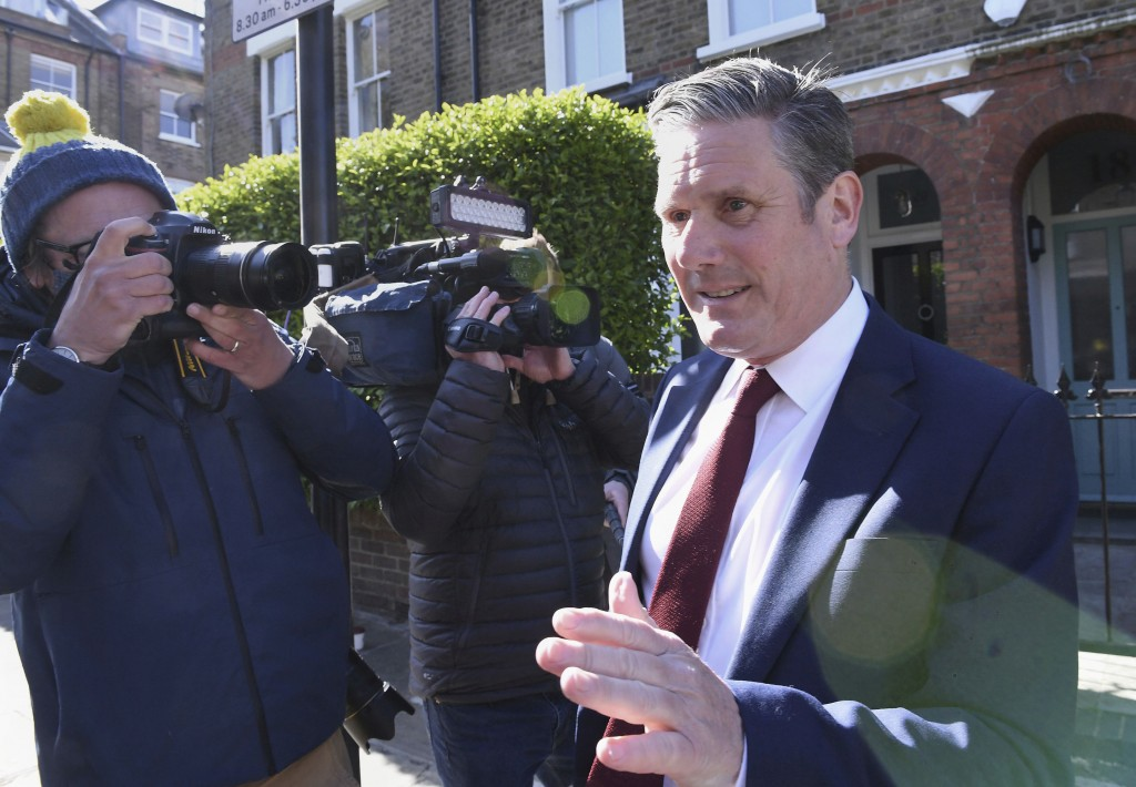 Britain's opposition Labour Party leader Keir Starmer leaves his home in London, following the declaration that the Labour Party has lost the Hartlepo...