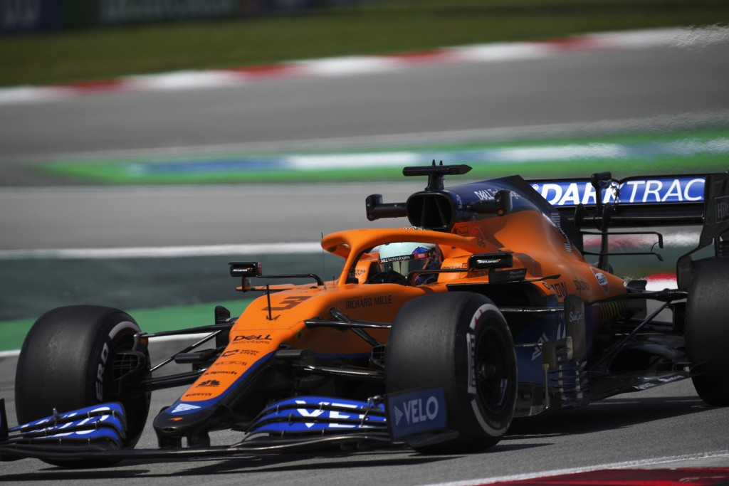 Mclaren driver Daniel Ricciardo of Australia steers his car during the first free practice for the Spanish Formula One Grand Prix at the Barcelona Cat...