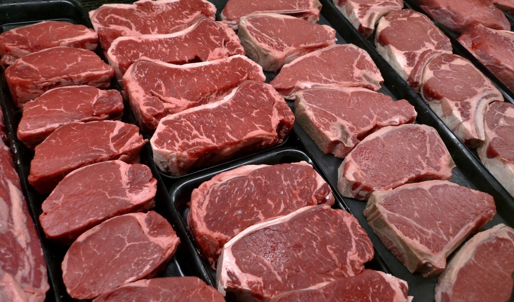 FILE - In this Jan. 18, 2010 file photo, steaks and other beef products are displayed for sale at a grocery store in McLean, Va. Republicans are incre...
