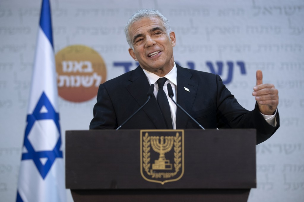 Israeli opposition leader Yair Lapid