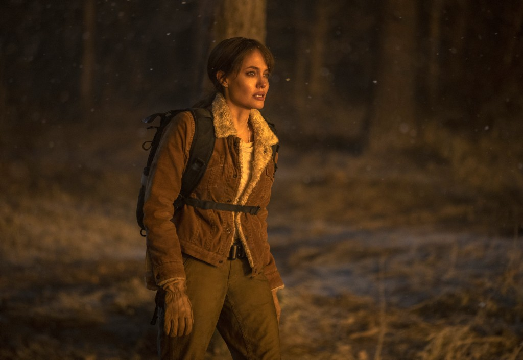 """This image released by Warner Bros. Entertainment shows Angelina Jolie in a scene from """"Those Who Wish Me Dead."""" (Emerson Miller/Warner Bros. Entertai..."""