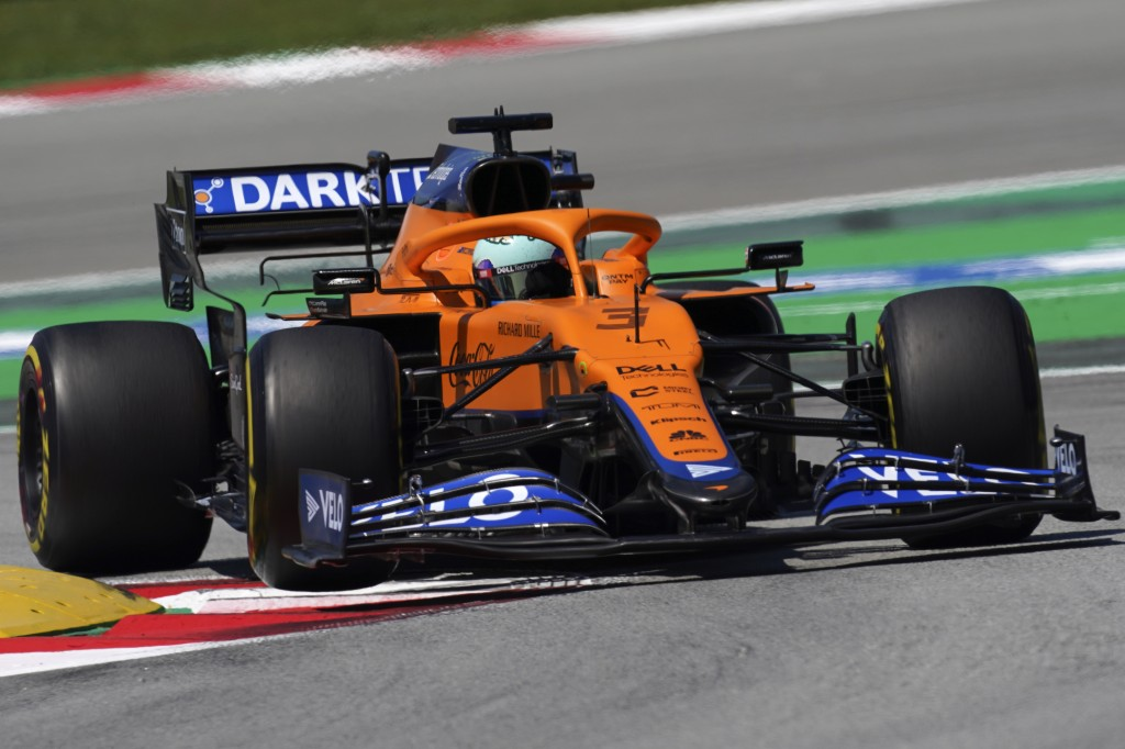 Mclaren driver Daniel Ricciardo of Australia takes a curve during the third free practice for the Spanish Formula One Grand Prix at the Barcelona Cata...
