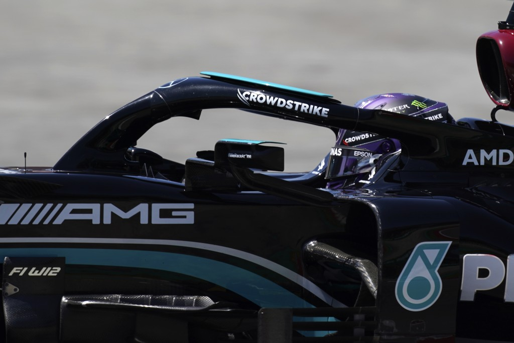Mercedes driver Lewis Hamilton of Britain steers his car during the third free practice for the Spanish Formula One Grand Prix at the Barcelona Catalu...