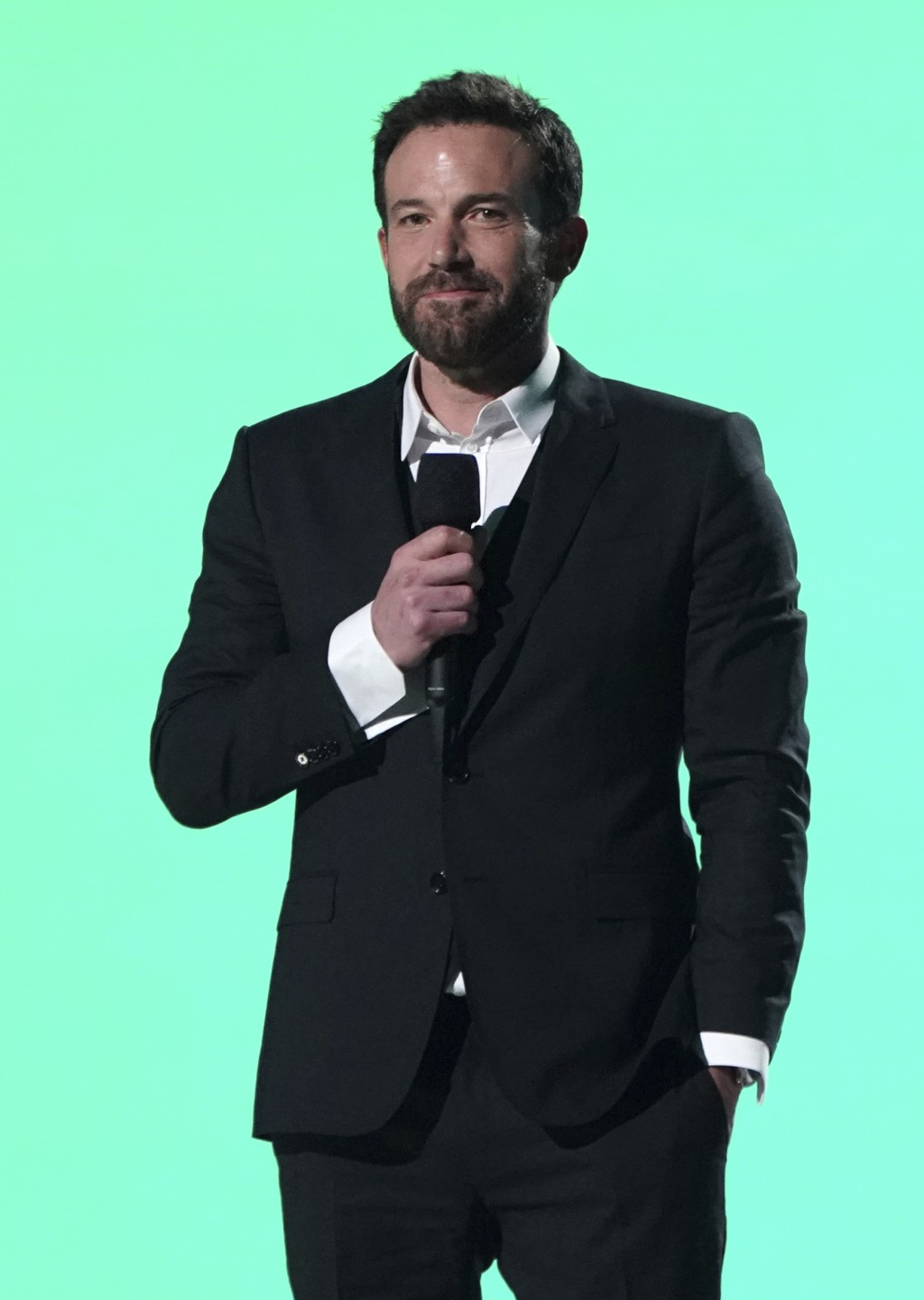 """Ben Affleck speaks at Vax Live: The Concert to Reunite the World"""" on Sunday, May 2, 2021, at SoFi Stadium in Inglewood, Calif. (Photo by Jordan Straus..."""