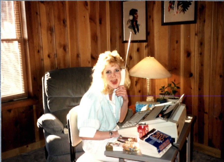 This undated photo provided by the Pitts family shows Pamela Pitts at the Pitts family home outside Prescott, Ariz. Pitts' then-roommate, Shelly Harmo...