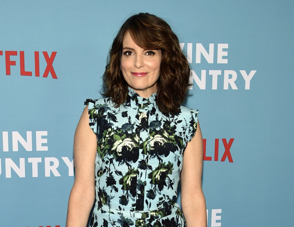"""FILE - Actress-writer Tina Fey attends the premiere of """"Wine Country"""" in New York on May 8, 2019. Fey turns 51 on May 18. (Photo by Evan Agostini/Invi..."""
