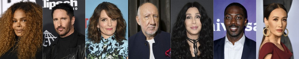 This combination of photos shows celebrities that have a birthday the week of May 16-22, from left, Janet Jackson, Trent Reznor, Tina Fey, Pete Townsh...