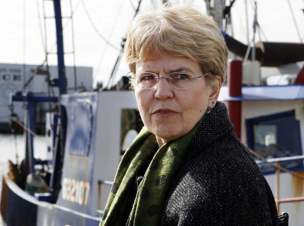 FILE - In this March 2, 2010, file photo, National Oceanic and Atmospheric Administration, NOAA, chief, Jane Lubchenco looks out from the waterfront a...
