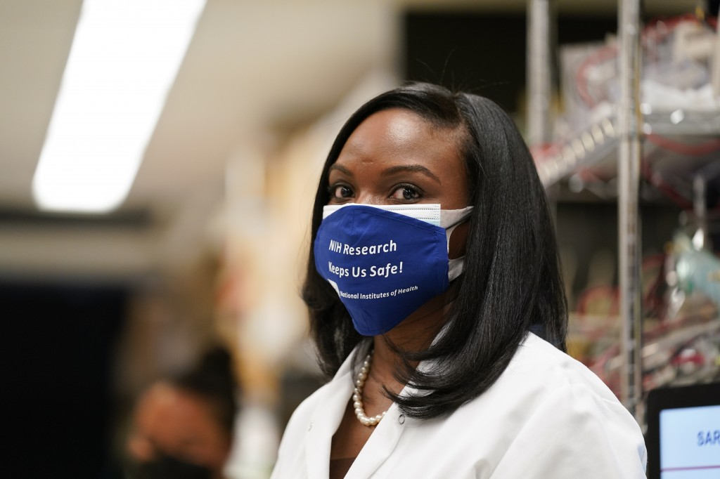 FILE - In this Feb. 11, 2021, file photo, Kizzmekia Corbett, an immunologist with the Vaccine Research Center at the National Institutes of Health (NI...