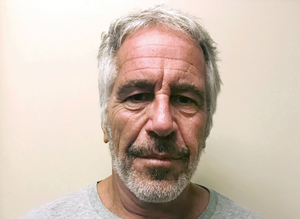 FILE - This March 28, 2017, file photo, provided by the New York State Sex Offender Registry, shows Jeffrey Epstein. Florida detectives have cleared P...