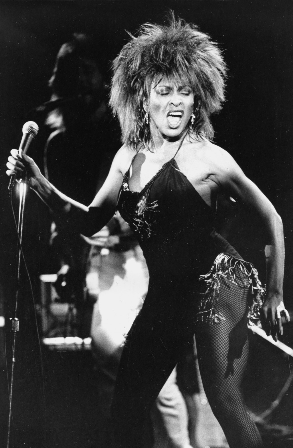 """FILE - Tina Turner performs her current hit song """"What's Love Got to Do With It"""" in Los Angeles on Sept. 2, 1984. Turner will be inducted to the Rock ..."""