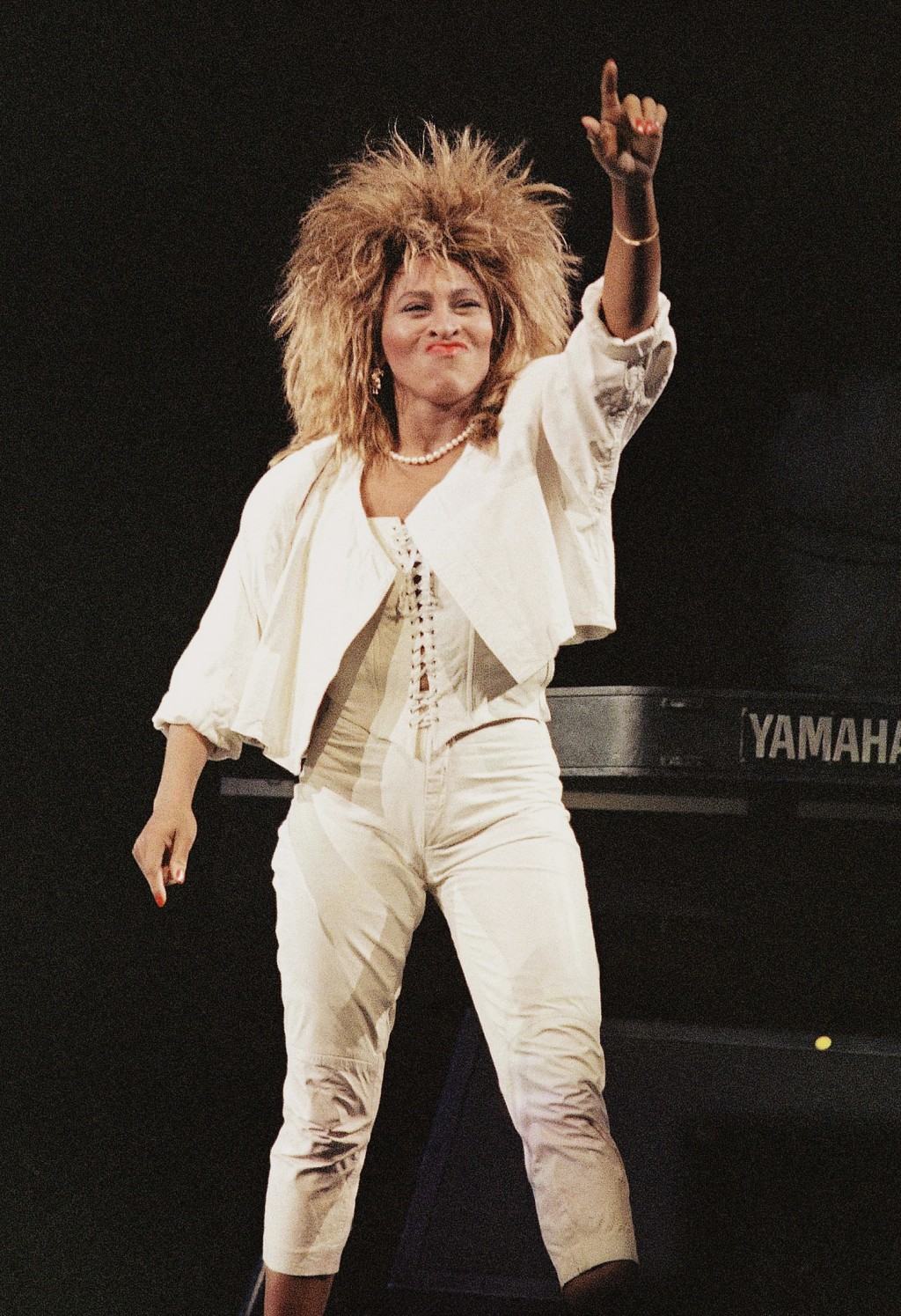 FILE - Tina Turner performs at New York's Madison Square Garden on Aug. 1, 1985. Turner will be inducted to the Rock & Roll Hall of Fame. The ceremony...