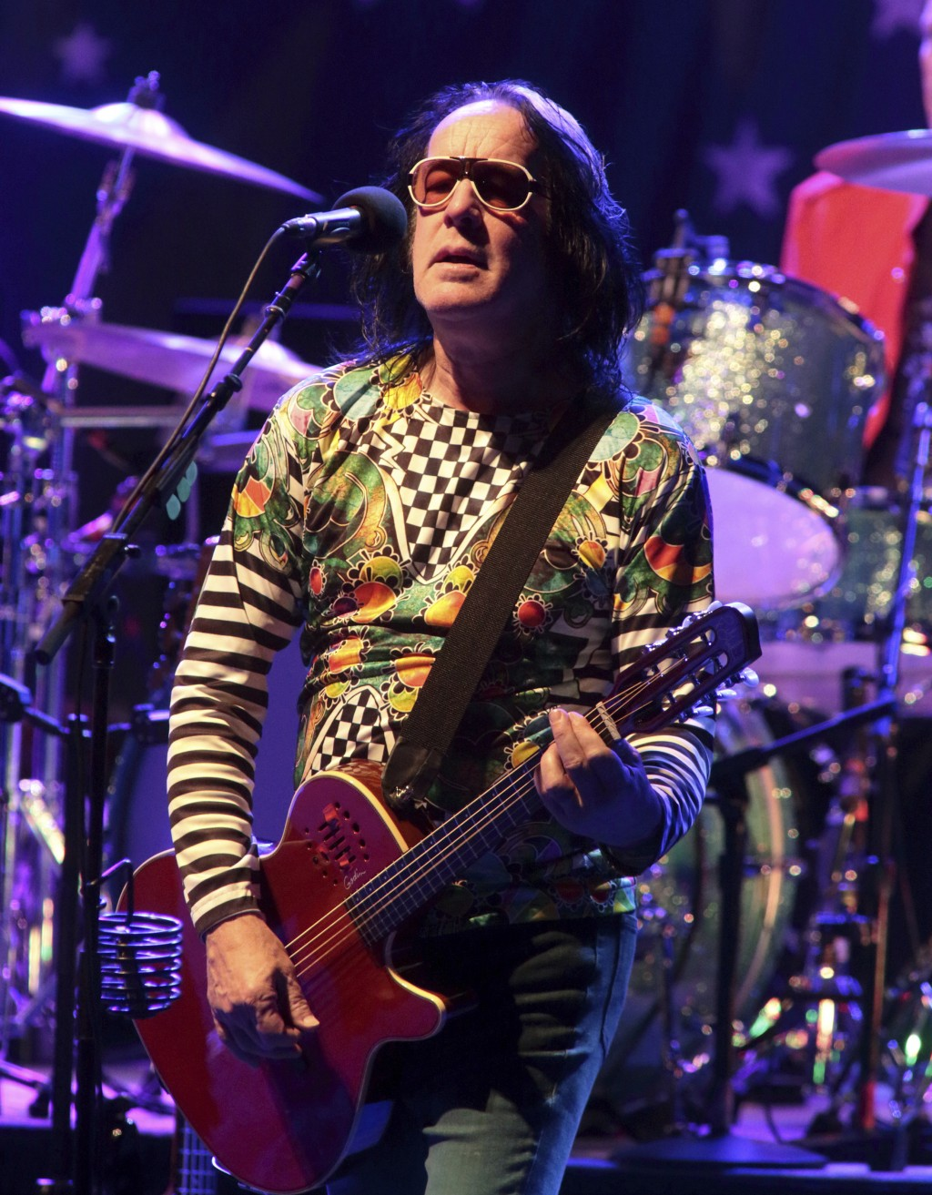 FILE - Todd Rundgren performs in concert with Ringo Starr and his All Starr Band in Baltimore on Oct. 28, 2015. Rundgren will be inducted to the Rock ...