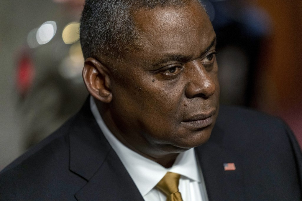 Secretary of Defense Lloyd Austin appears at a Senate Armed Services budget hearing on Capitol Hill in Washington, Thursday, June 10, 2021. (AP Photo/...