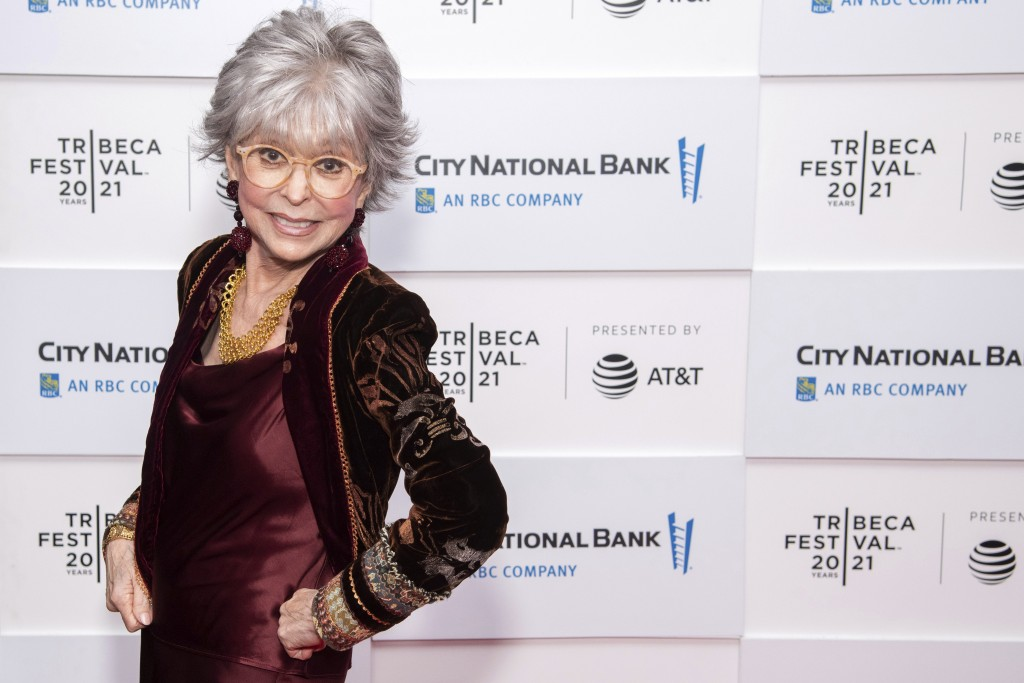 """Rita Moreno attends the premiere of """"Rita Moreno: Just A Girl Who Decided To Go For It"""" during the 20th Tribeca Festival at Pier 76 on Saturday, June ..."""