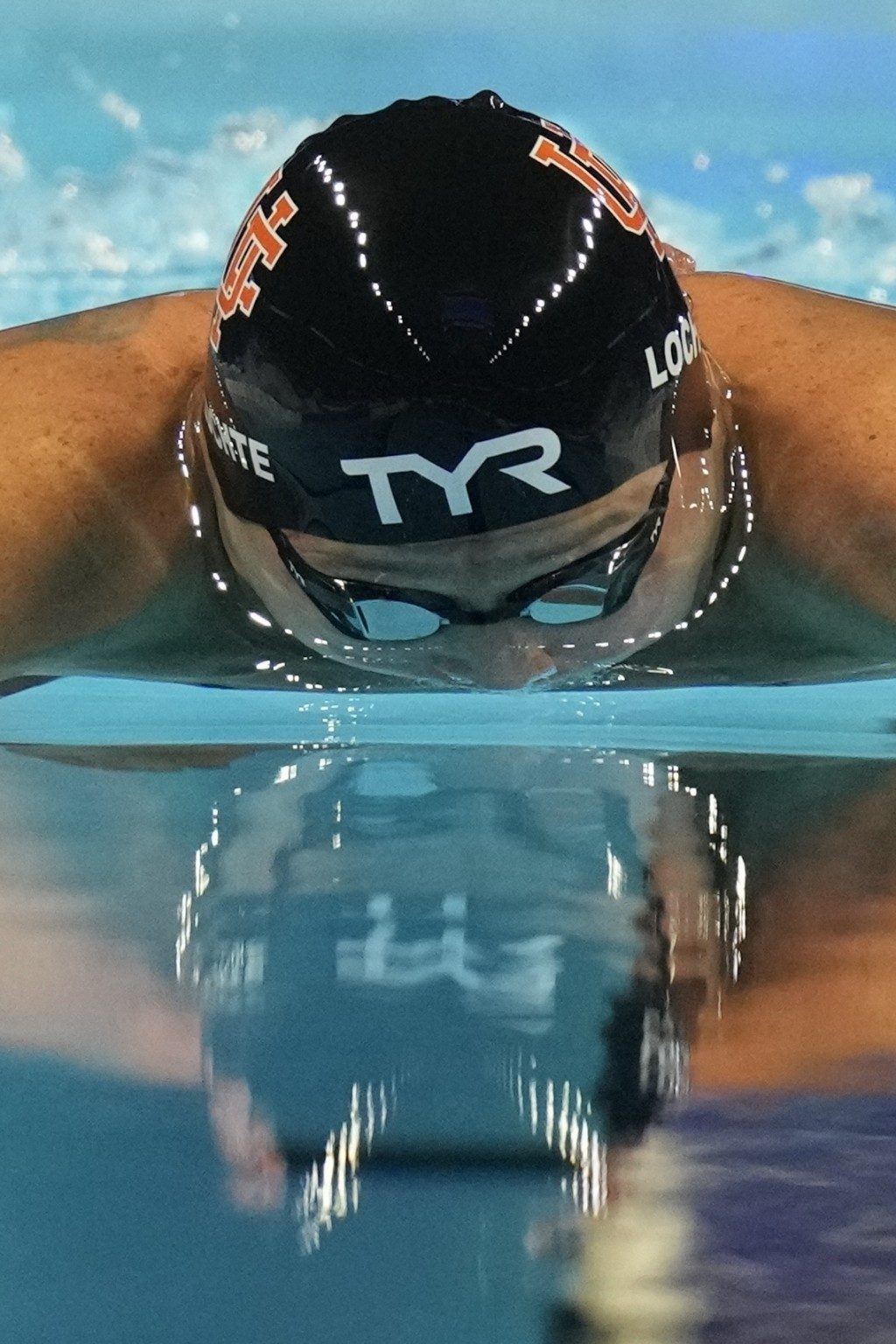 Ryan Lochte participates in the men's 200 Individual Medley during wave 2 of the U.S. Olympic Swim Trials on Thursday, June 17, 2021, in Omaha, Neb. (...