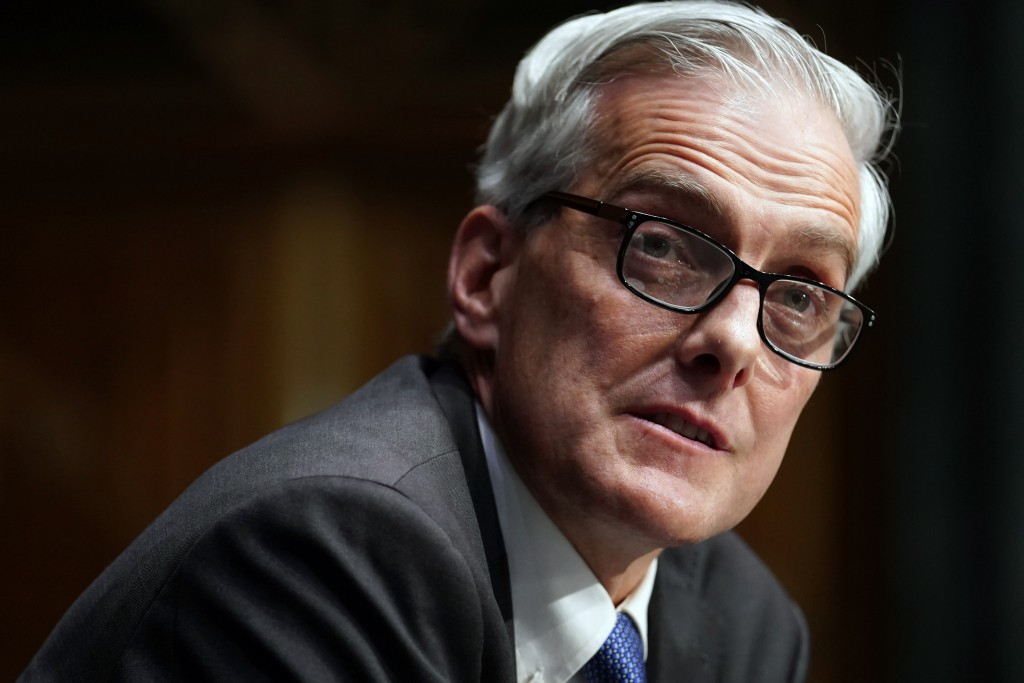FILE - In this Wednesday, Jan. 27, 2021, file photo, Secretary of Veterans Affairs nominee Denis McDonough speaks during his confirmation hearing befo...